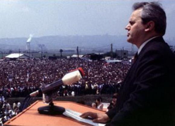 Milošević na Gazimestanu 1989.