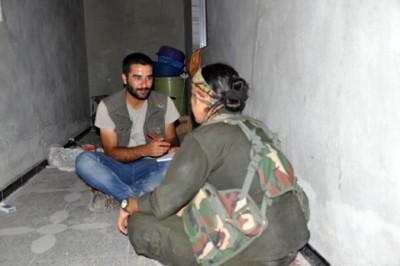 Zapovjednica YPG-a Meysa Ebdo tokom intervjua