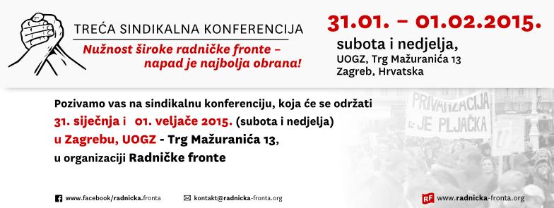 3. sindikalna konferencija u organizaciji Radničke fronte